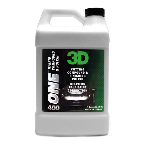 The Clean Garage 3D ONE Hybrid Compound and Polish | One Step 1 Gallon