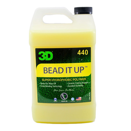 The Clean Garage 3D Bead It Up 1 Gallon | Hydrophobic Ceramic Polymer Spray