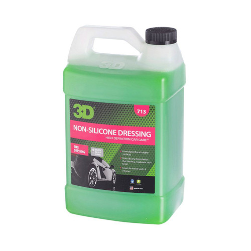 The Clean Garage 3D Non-Silicone Dressing 1 Gallon | Body Shop Safe Tire and Trim Dressing