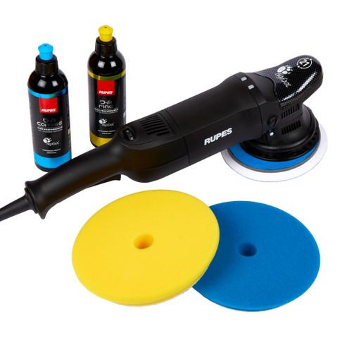 Clean Garage Rupes LHR21 ES Polisher Kit | Bigfoot Combo 3 | DA Fine and Coarse