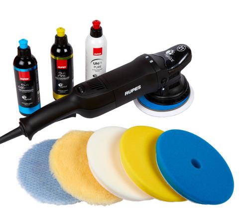 Clean Garage Rupes LHR21 ES Polisher Kit | Bigfoot Combo 4 | DA System 5 Pads