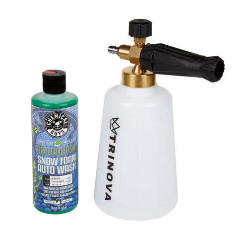 Clean Garage Trinova Foam Cannon & Chemical Guys Honey Dew Snow Foam Combo