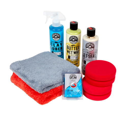 Clean Garage Chemical Guys Clay Wax & Sealant Kit | Butter Wet Wax Jet Seal