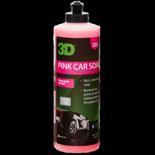 The Clean Garage 3D Pink Car Soap 16oz | PH Neutral Car Wash