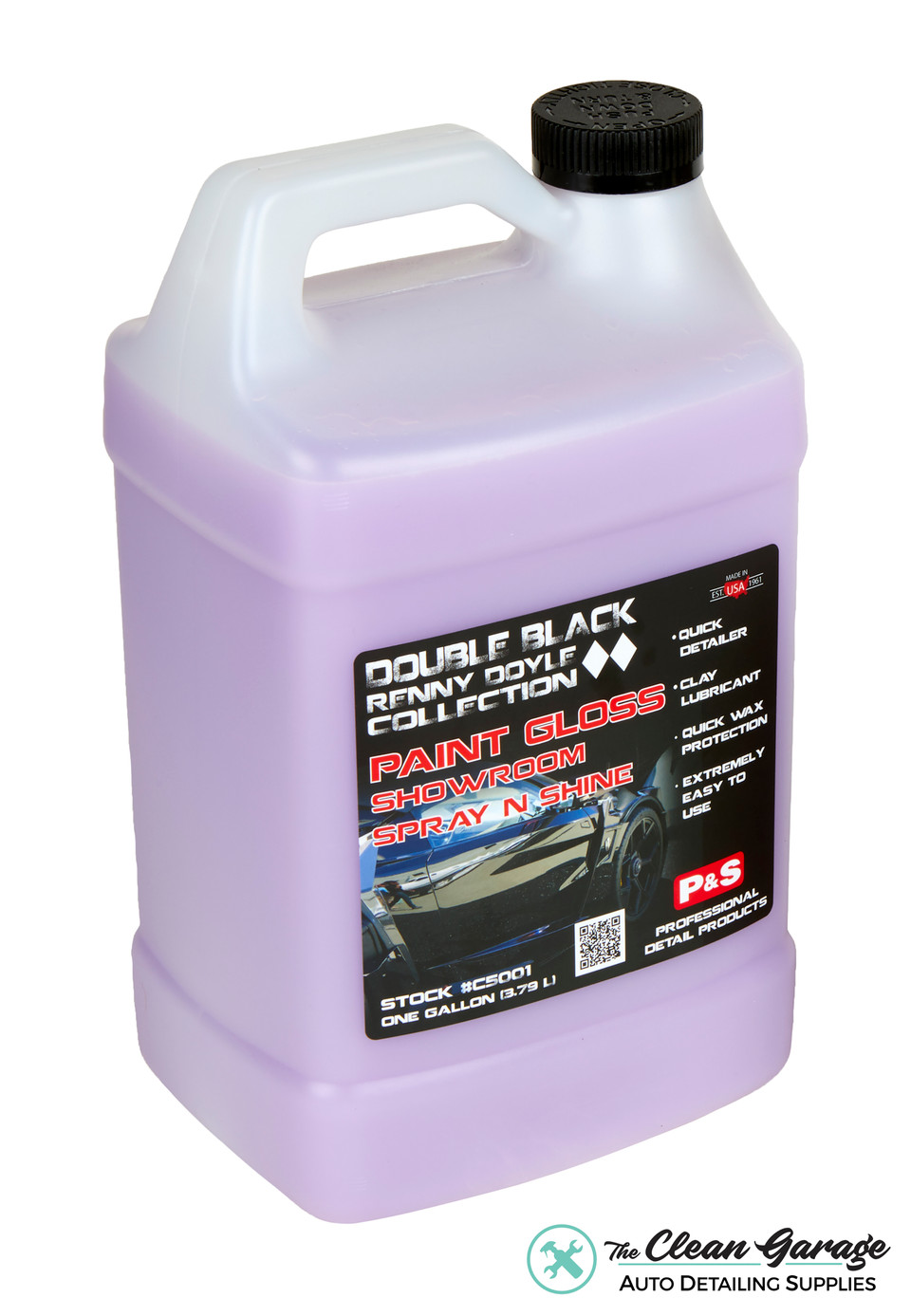 P&S Paint Gloss 1 Gallon | Double Black Detail Spray