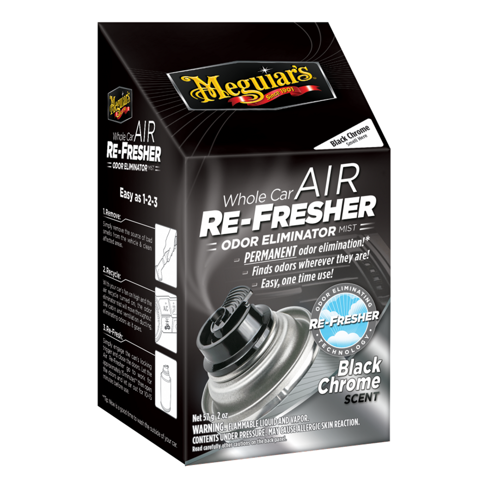 Meguiar's Whole Car Air Refresher Odor Eliminator Black Chrome