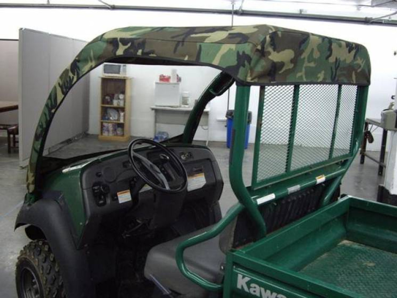 Kawasaki Mule 610 Vinyl Windshield Soft Roof Combo