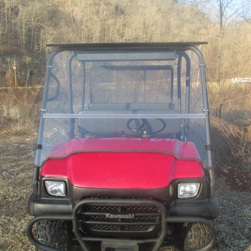 Kawasaki Mule 3010 / 3010 Trans Folding Polycarbonate Windshield - Tinted or Clear