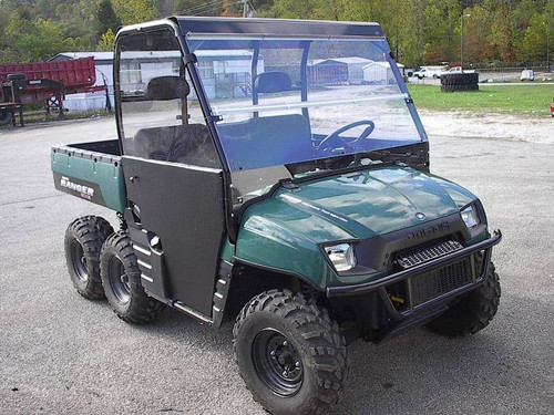 2002-2008 Polaris Ranger Folding Polycarbonate Windshield - Clear or Tinted