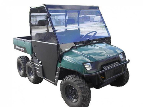 2002-2008 Polaris Ranger Polycarbonate Full Windshield - Clear or Tinted