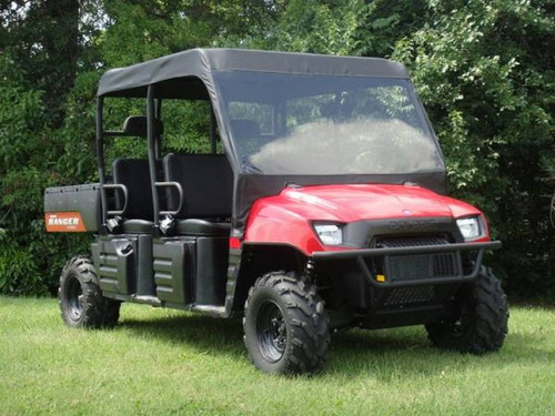 08-09 Polaris Ranger Crew Vinyl Windshield Soft Roof GCL UTV