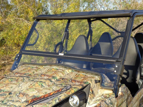 2016 & Newer Kawasaki Teryx4 Split / Hinged Folding Windshield