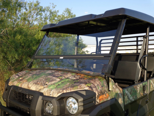 Kawasaki Mule PRO-FXT / PRO-DXT Hard UTV Split Folding Windshield USA Made
