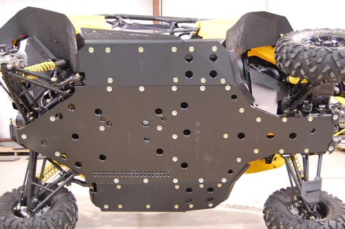 Can Am Maverick Full Skid Plate with Nerf Sliders