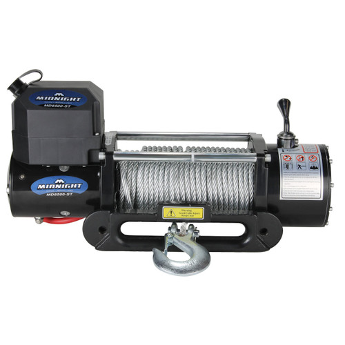 Viper Midnight Recovery Jeep 4x4 Truck Winch 8500 lb Capacity MD8500