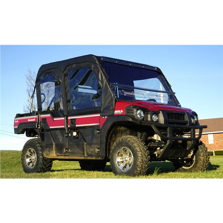 Kawasaki Mule PRO-FXT / PRO-DXT Modular Full Cab Enclosure with Aero-Vent Lexan Windshield