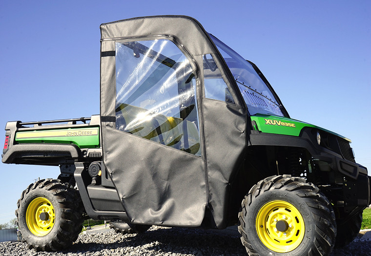 John Deere Gator XUV 835 Soft Doors and Rear Window Combo by Over Armour Offroad | Item#: JD-835-DRW01