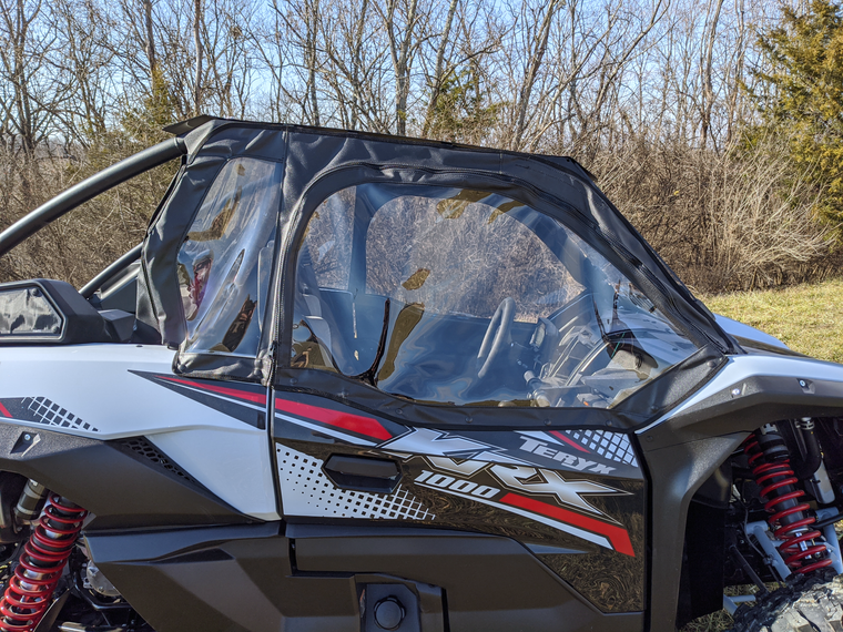 Kawasaki Teryx KRX 1000 Soft Doors and Rear Window Combo | Falcon Ridge
