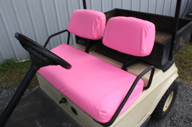 Club Car DS Golf Cart Seat Covers PINK | Fits 1982-2000