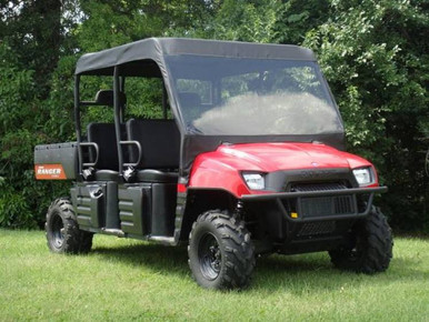 08 09 Polaris Ranger Crew Vinyl Windshield Soft Roof Gcl