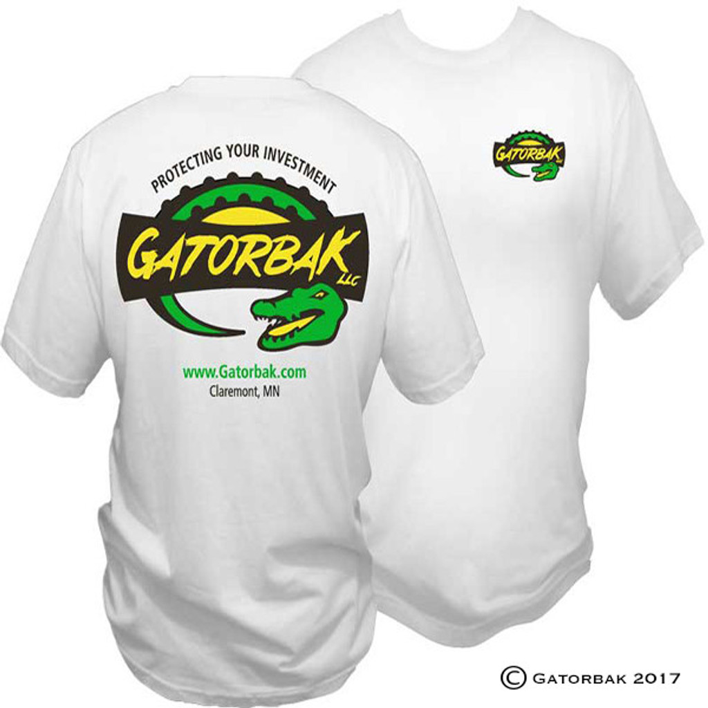 Gatorbak custom t-shirts - show off your Gatorbak pride with a white t-shirt!