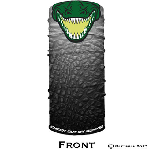 Front image of the Gatorbak branded face shield.
