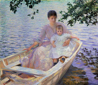 Edmund Charles, Tarbell Mother and Child in a Boat