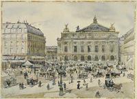 Edward Darley Boit, Place de l'OpŽra, Paris