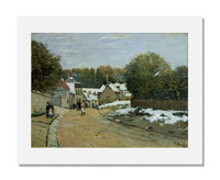 Alfred Sisley, Early Snow at Louveciennes