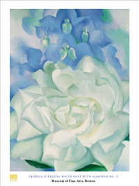 Georgia O'Keeffe, White Rose Poster