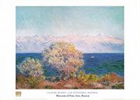 Claude Monet, Cap d'Antibes, Mistral Poster