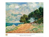 Claude Monet, Cap Martin, near Menton Poster