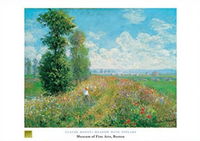 Claude Monet, Meadow with Poplars Poster