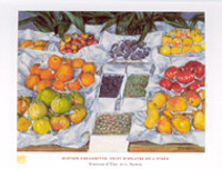 Gustave Caillebotte, Fruit Displayed on a Stand Poster