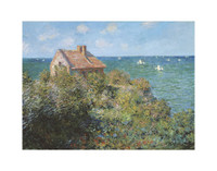 Claude Monet, Fisherman's Cottage  11x14 Matted Print