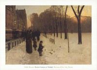 Childe Hassam, Boston Common at Twilight Poster
