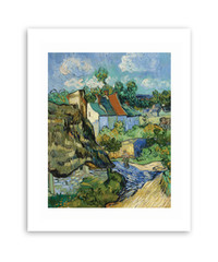 Van Gogh Houses at Auvers Matted Print