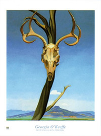 Georgia O'Keeffe, Deer's Skull with Pedernal Poster