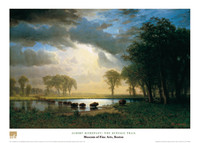 Albert Bierstadt, The Buffalo Trail Poster