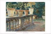 John Singer Sargent, Villa Di Marlia Lucca: Balustrade Poster