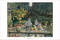 John Singer Sargent, Villa di Marlia, Lucca: A Fountain Poster