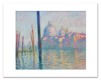 Claude Monet, Grand Canal,  Venice Matted Print