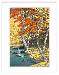 Hasui Autumn at Oirase