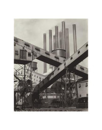 Charles Sheeler, Criss-crossed Conveyors 11 x 14 Matted Print