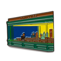 "Edward Hopper ""Nighthawks"" Enamel Pin"
