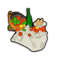 "Paul Cezanne ""Basket of Apples"" Enamel Pin"