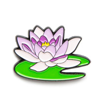 "Monet ""Water Lily"" Enamel Pin"