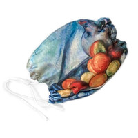 Face Mask - Cezanne, Fruit and Jug on a Table