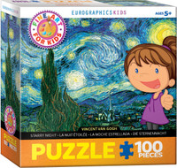 Vincent Van Gogh, Starry Night Puzzle - 100 Pieces