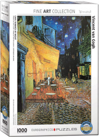 Vincent Van Gogh, Cafe Terrace at Night Puzzle - 1000 Pieces
